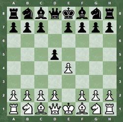 Скандинавская защита начинается ходами 1. e2-e4 d7-d5