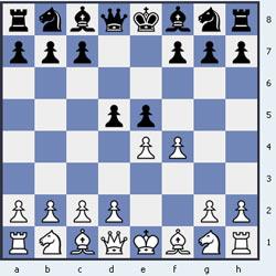 Контргамбит Фалькбеера начинается ходами 1.e4 e5 2.f4 d5