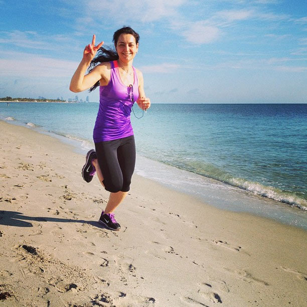 За 2013 год, Александра пробежала более 850 км