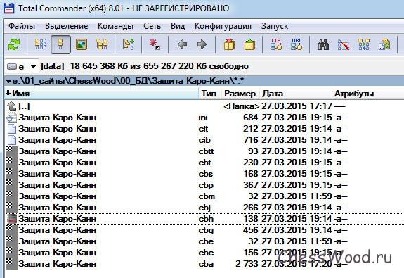 Кроме файла cbh, в папке появились и другие файлы: ini, cit, cib, cbtt, cbt, cbs, cbp, cbm, cbg, cbe, cbc, cba
