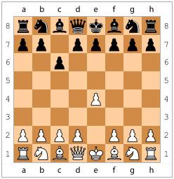 Защита Каро-Канн. Начинается ходами 1. e2-e4 c7-c6