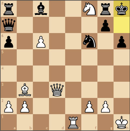 Шахматная задача на спёртый мат. Ход белых