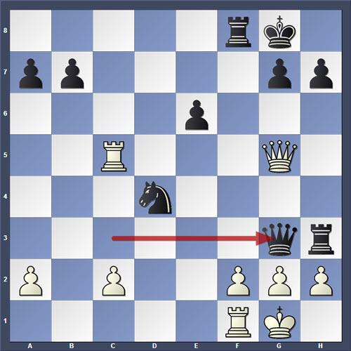 Обман Маршала в шахматах - диаграмма поясняющая суть