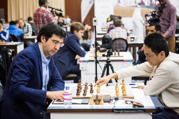 Шахматы Катар 2015: Владимир Крамник и Юй Янъи
