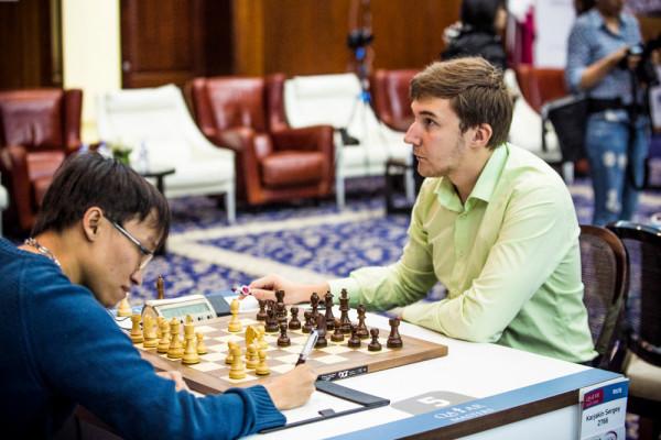 Qatar Masters Open 2015 - Нгуен Нгок Чыонг Шон (Вьетнам) и Сергей Карякин (Россия)