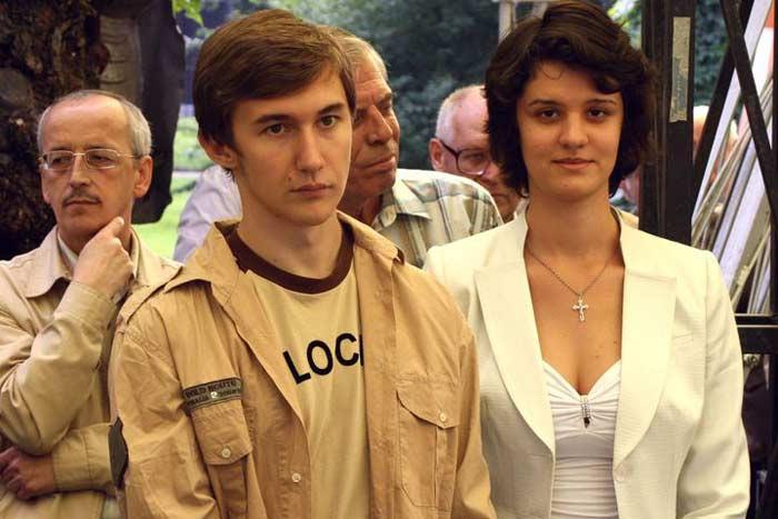 Шахматист Сергей Каракин с первой женой Екатериной Должиковой