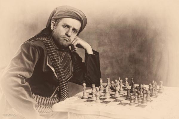 Грозный воин за шахматной доской - весьма интересный образ