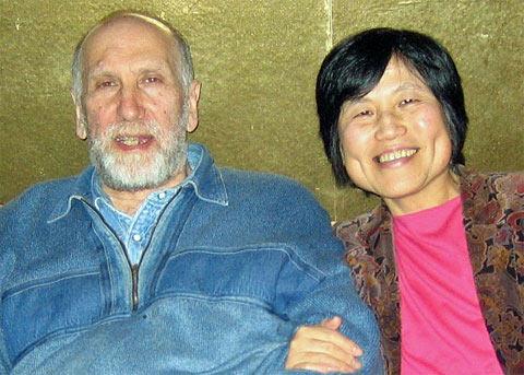 Бобби Фишер с женой Мийоко Ватаи