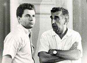 Борис Спасский с тренером Игорем Бондаревским