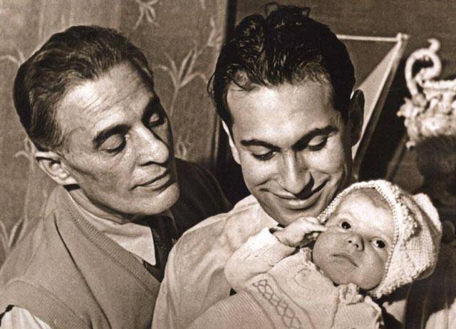 Михаил Таль с отцом и сыном