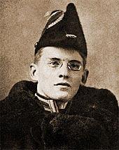 Александр Алехин в форме правоведа