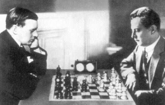 Александр Алехин и Хосе Рауль Капабланка (Аргентина, 1927)