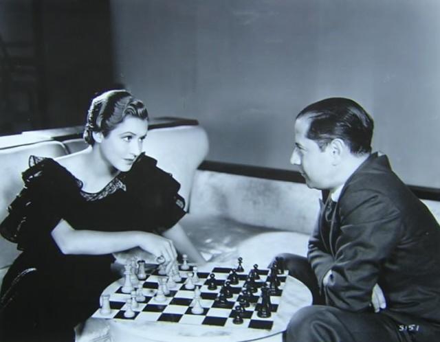 Капабланка с американской актрисой Мэй Кларк