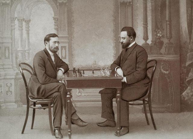 Зигберт Тарраш и Михаил Чигорин (Санкт-Петербург, 1893 год)