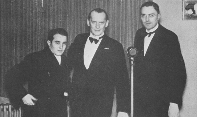 Трое из восьми участников АВРО-38: Сало Флор, Александр Алехин, Макс Эйве