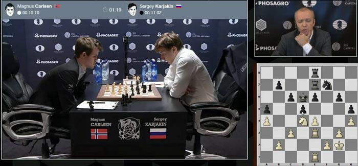 После определенного накала, Карякину удалось наладить оборону к 37 ходу