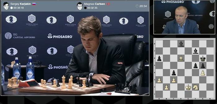 Над 43 ходом Карлсен думал более 20 минут