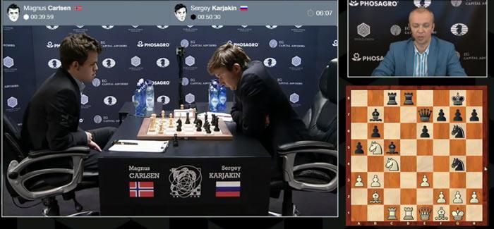 Карякин мог переломить ход событий в восьмой партии ходом 19... Qg5