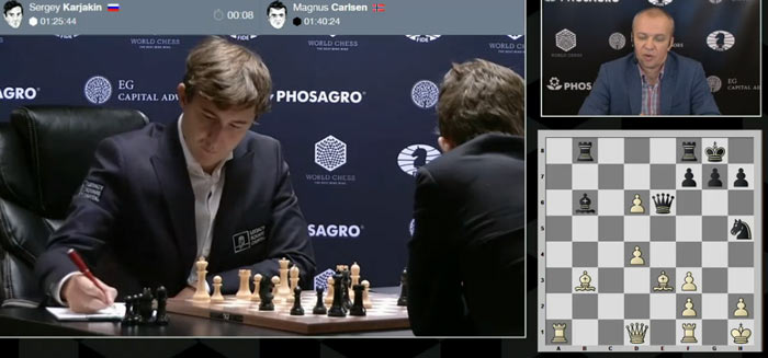 Партия 9 матча Карлсен - Карякин 2016