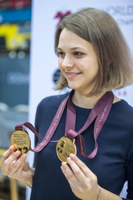 Анна Музычук - чемпионка мира по рапиду и блицу