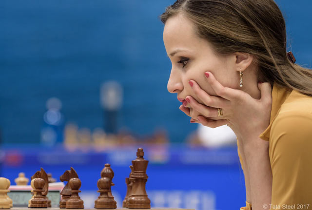 Шахматистка Софико Гурамишвили (Грузия) на турнире Tata Steek Chess 2017