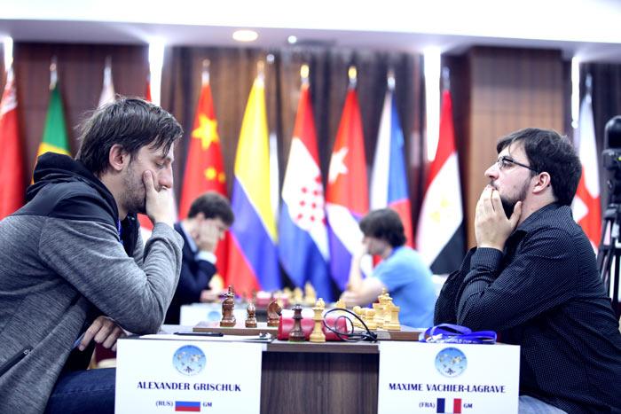 Александр Грищук (Россия) и Максим Вашье-Лаграв (Франция), Кубок мира 2017, Грузия