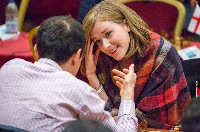 Шахматистка Анна Рудольф на турнире остров Мэн 2017