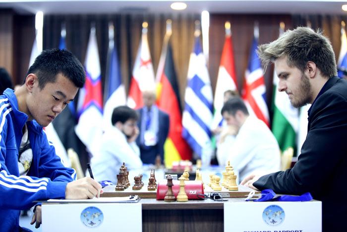 Дин Лижэнь (Китай) и Рихард Раппорт (Венгрия) - 1/4 Кубка мира 2017 по шахматам, Тбилиси, Грузия