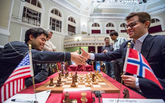 Хикару Накамура и Магнус Карлсен - шахматный турнир на острове Мэн 2017