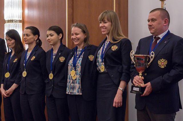 Состав женской сборной России по шахматам на командном чемпионате Европы 2017 (о. Крит, Греция)