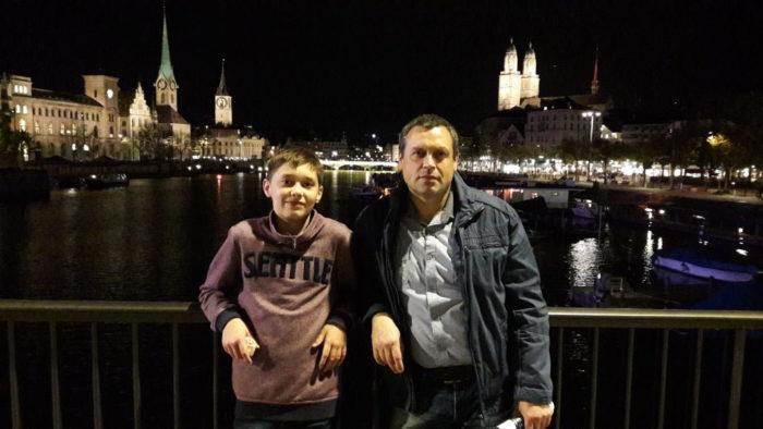 Андрей с отцом Евгением