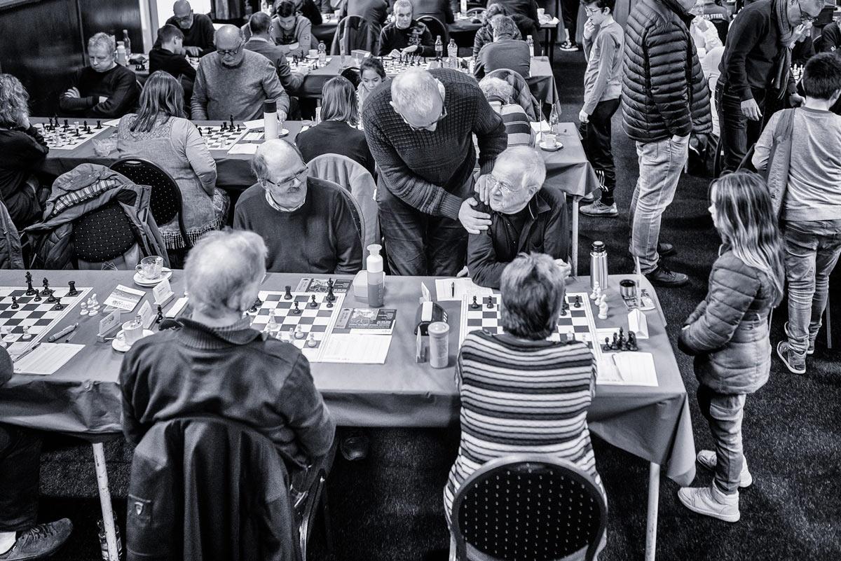 Состязание шахматистов-любителей - в теснота, да не в обиде...