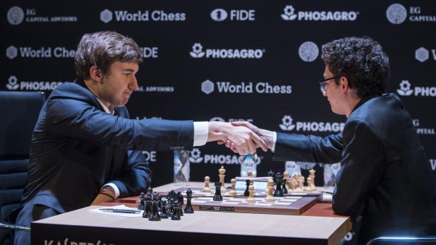 Сергей Карякин принимает капитуляцию американского шахматиста
