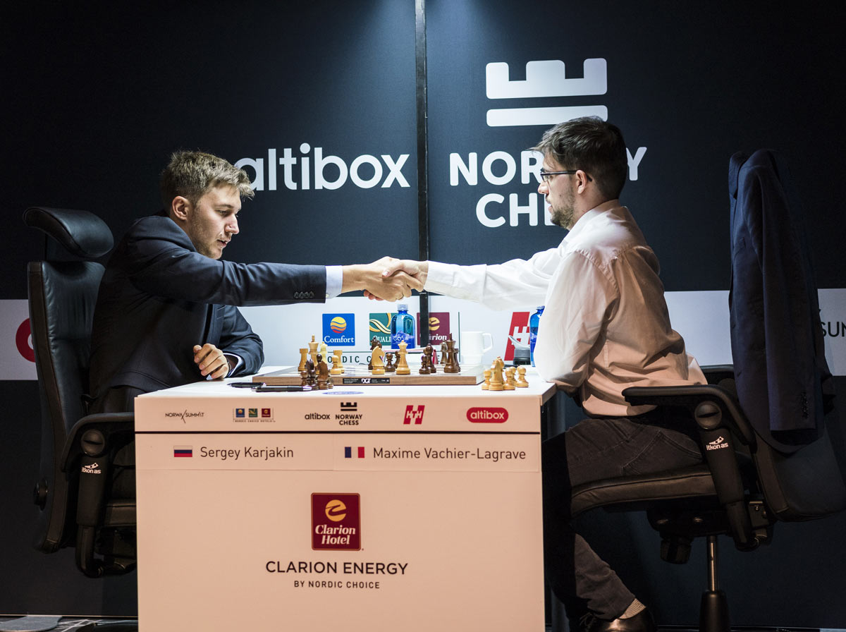 Шахматы Ставангер 2018: Сергей Карякин и Максим Вашье Лаграв