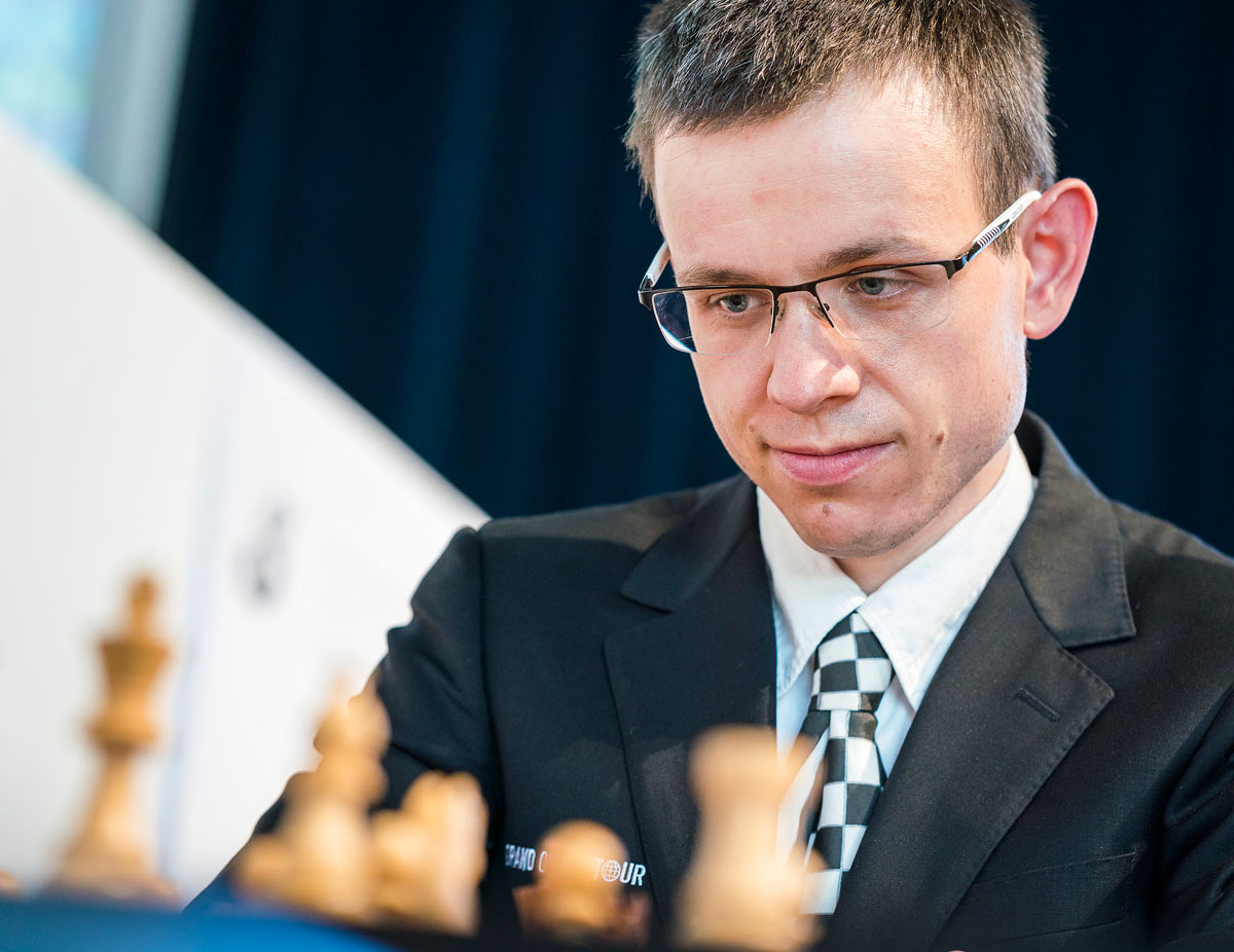Давид Навара на шахматном турнире в Биле 2018