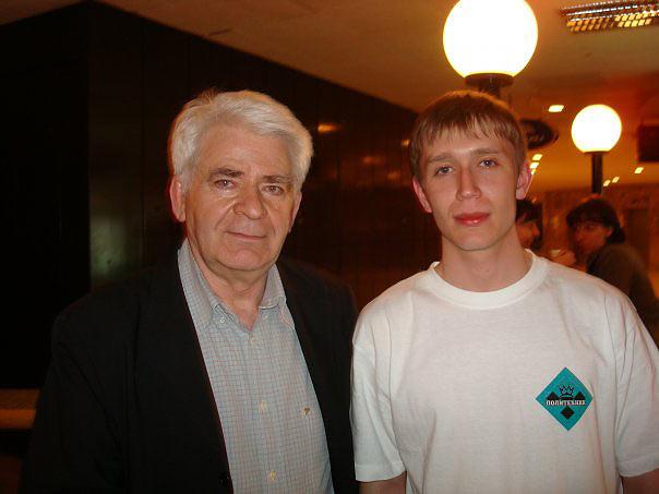 Десятый чемпион мира по шахматам Борис Спасский и Артём Ильин (Дагомыс, 2008)