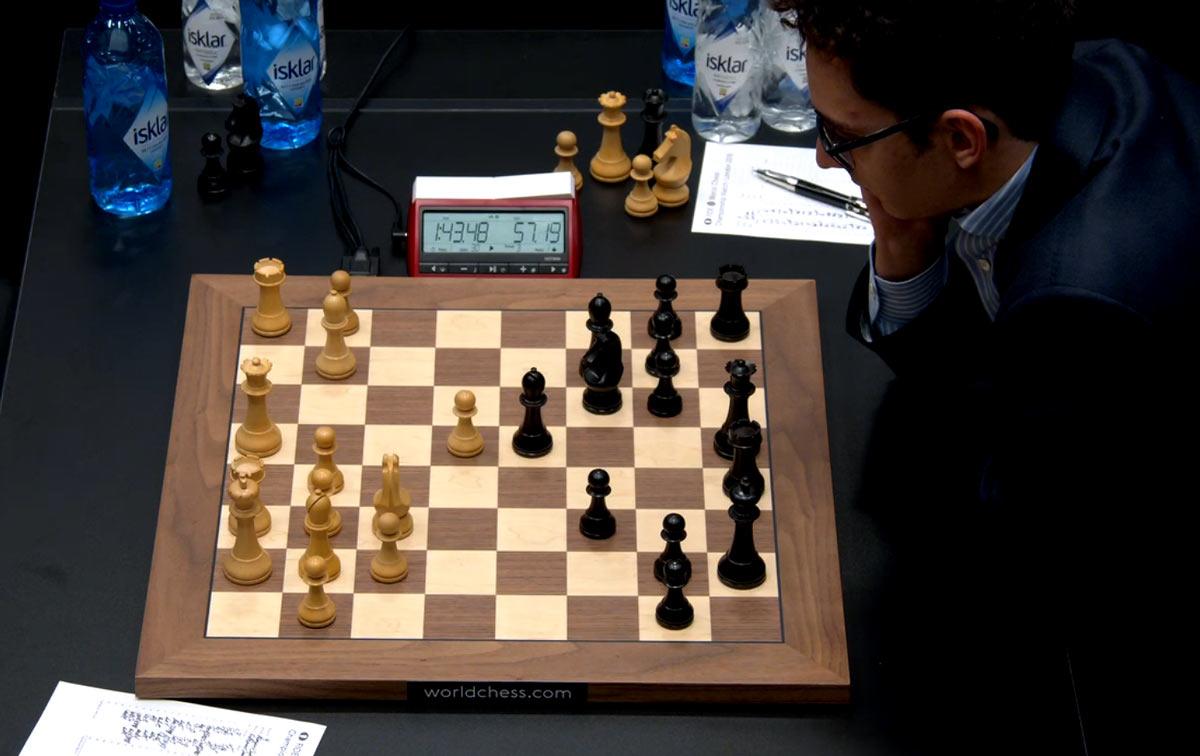 Матч по шахматам Карлсен - Каруана 2018. Партия 9