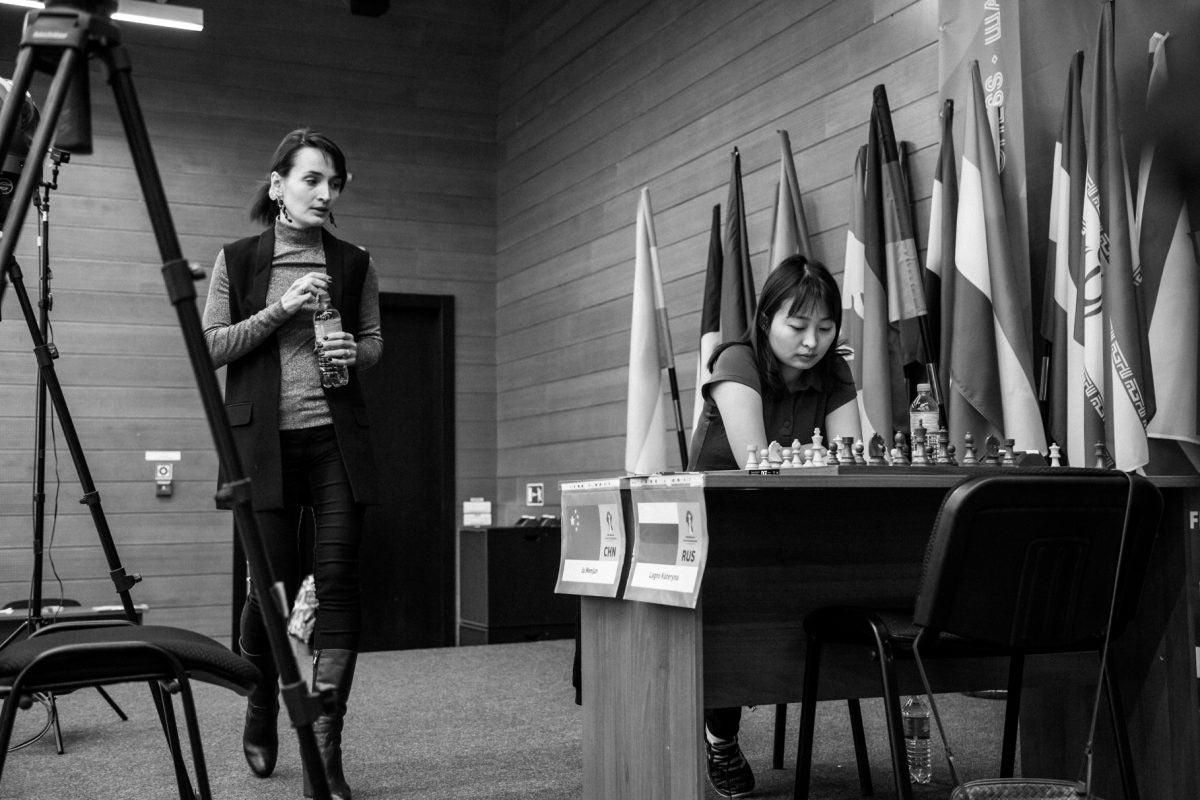 Екатерина Лагно и Цзюй Вэньцзюнь - чемпионат мира по шахматам среди женщин 2018