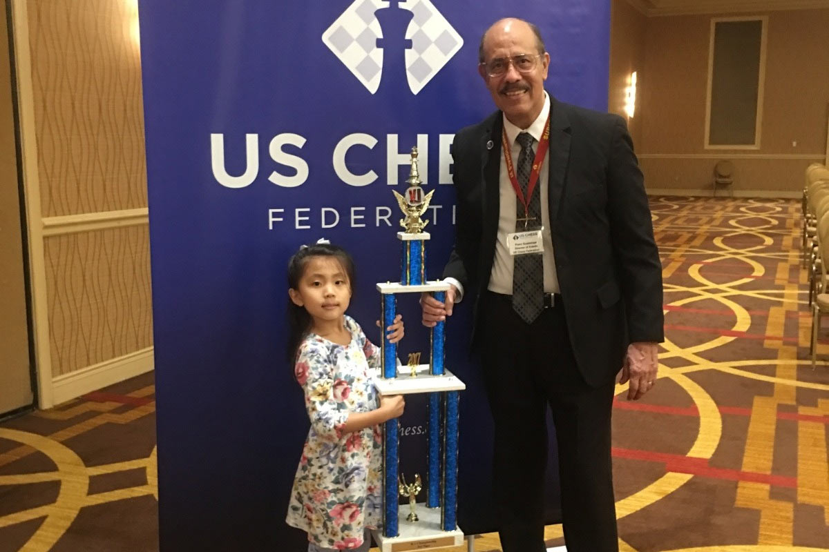 Evelyn Qiao (Эвелин Цяо), США. Кандидат в международные мастера среди женщин (WCM), чемпионка Северной Америки в своей категории