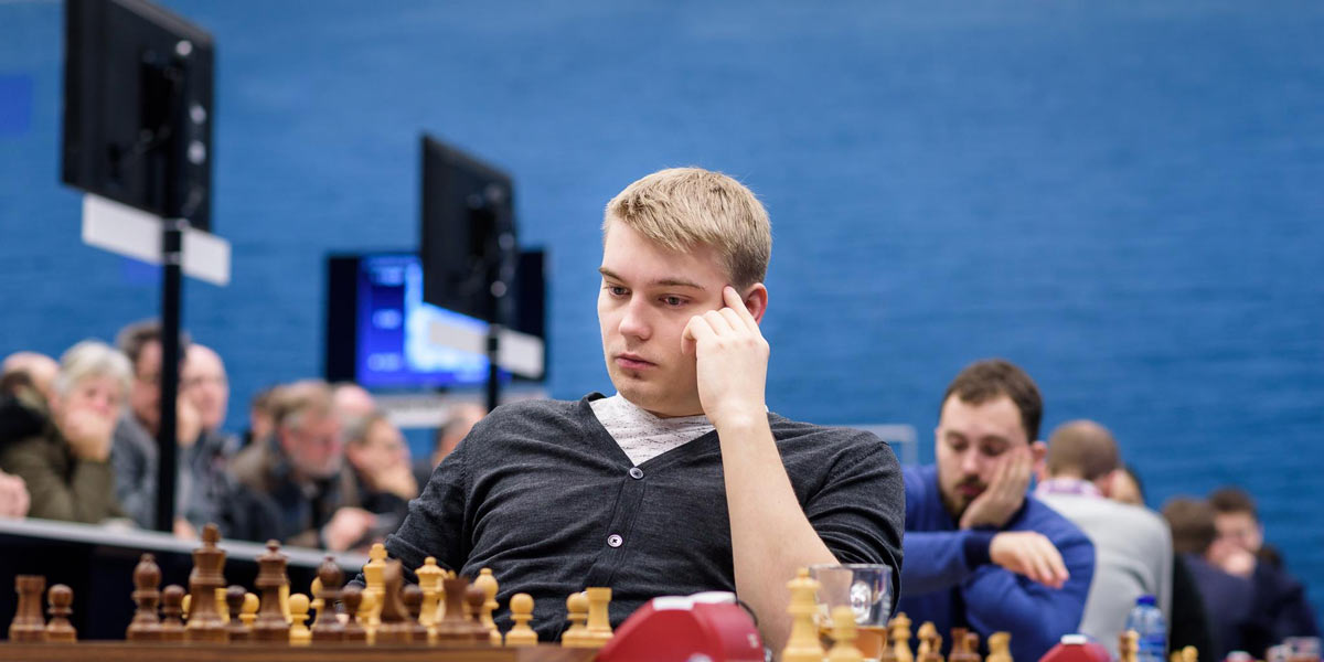 Шахматист Владислав Ковалев (Беларусь). Шахматный турнир Tata Steel Challengers 2019