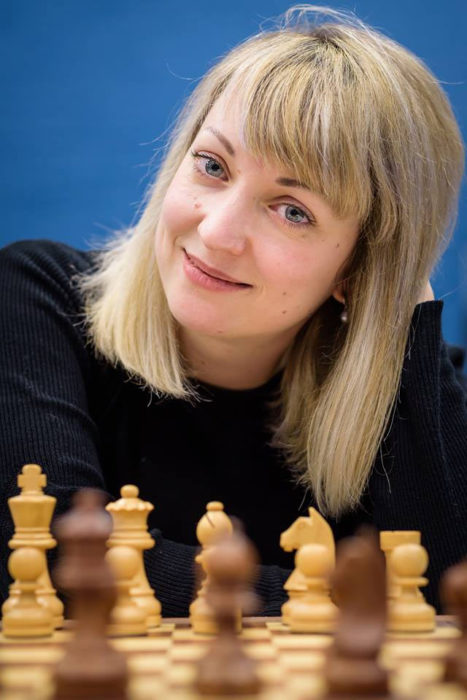 Немецкая шахматистка Элизабет Петц (Elisabeth Paehtz) | Фото: Алина Л'Ами/Tata Steel Chess