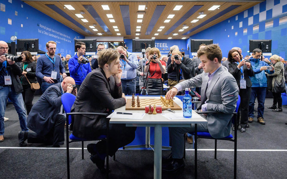 Рихард Раппорт и Магнус Карлсен. Шахматный турнир Tata Steel Masters 2019