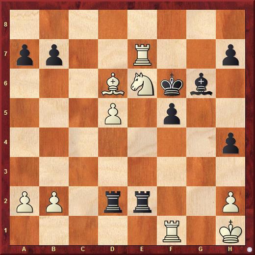 Позиция из 23 партии матча Стейниц - Чигорин за звание чемпиона мира по шахматам 1892