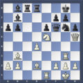 Шахматная диаграмма. Куда лучше жертвовать?