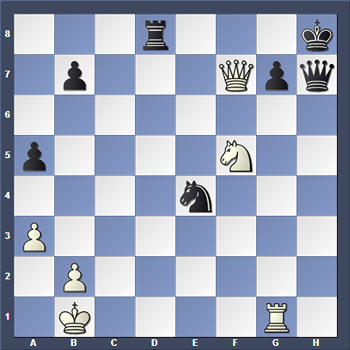 Шахматная задач на расчет вариантов