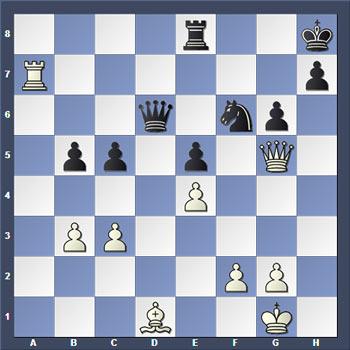 Шахматная задача. Определите, какие варианты необходимо рассчитать.