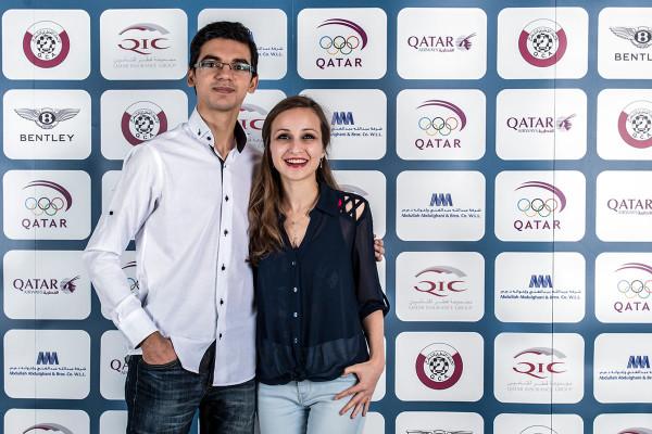 Супружеская пара Аниш Гири (Нидерланды) и Софико Гурамишвили (Грузия)
