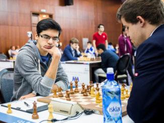 Катар опен 2015 шахматы - Аниш Гири и Магнус Карлсен