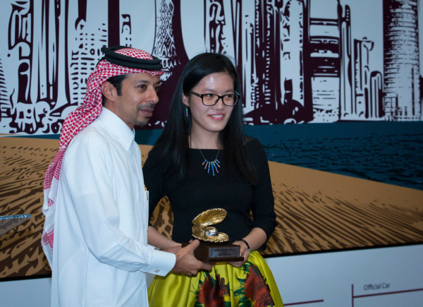 Катар Опен 2015 лучшая шахматистка среди женщин Хоу Ифань (Hou Yifan) из Китая