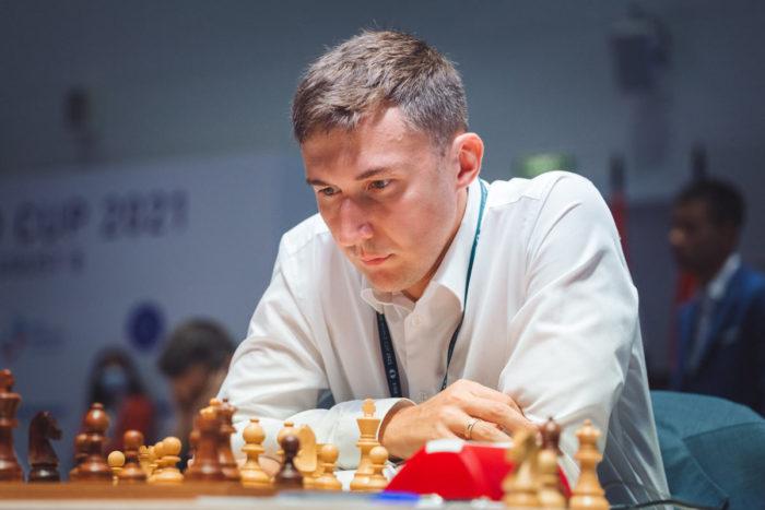 Сергей Карякин во время Кубка мира ФИДЕ 2021 (Сочи)